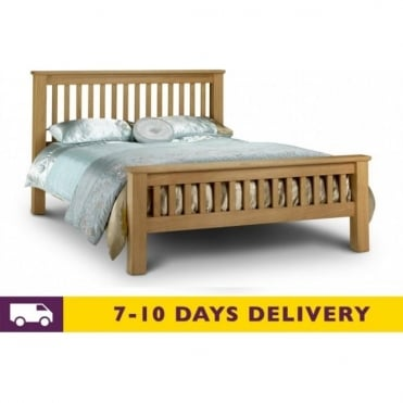 Amsterdam 5ft King Size Solid Oak Bed