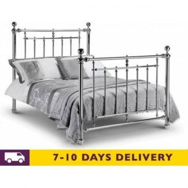 Empress Chrome 4ft6 Double Bed