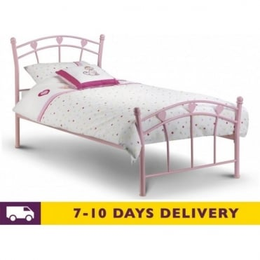 3ft Jemima Pink Metal Single Bed