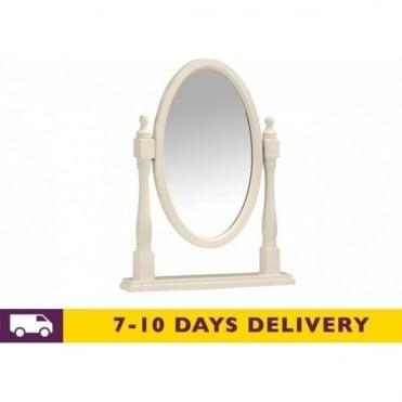 Josephine Stone White Oval Mirror