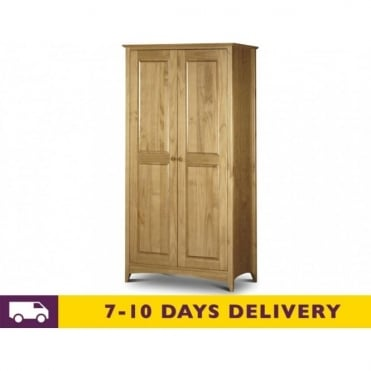 Kendal 2 Door Solid Pine Wardrobe