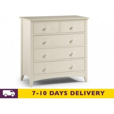 Cameo 3 & 2 White Drawer Chest
