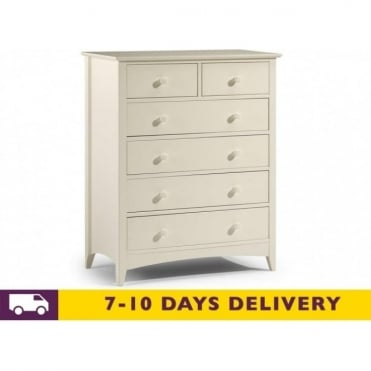Cameo 4 & 2 White Drawer Chest