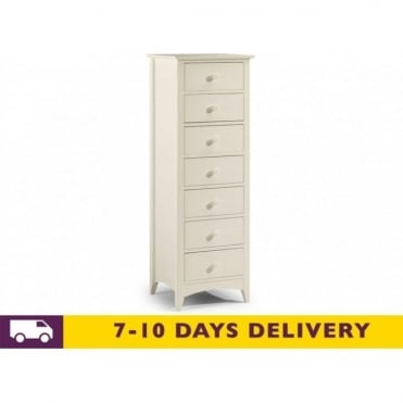 Cameo 7 White Drawer Chest