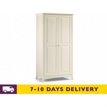 Cameo Stone White 2 Door Wardrobe
