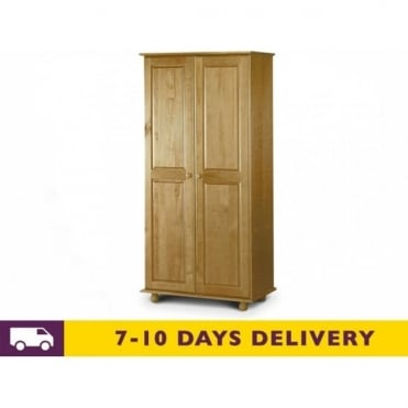 Pickwick 2 Door Solid Pine Wardrobe