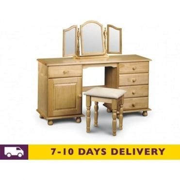 Pickwick Double Pedestal Dressing Table