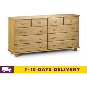 Pickwick 10 Drawer Pine Chest