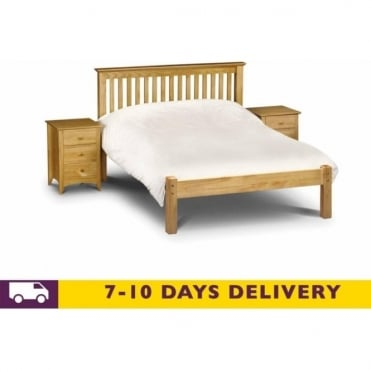 Barcelona 5ft King Size Pine Finish LFE Bed