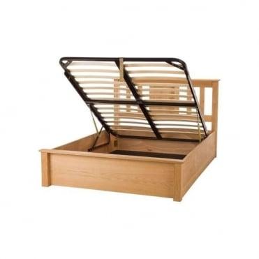 Terran 4ft6 Double Oak Ottoman Bed