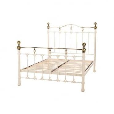 Knightsbridge King Size 5ft Ivory Metal Bed