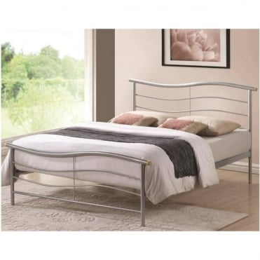3ft Single Bed Silver Metal - Waverley