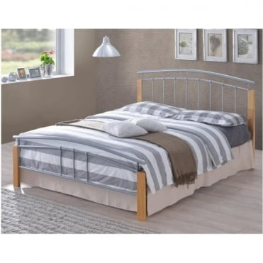 3ft Single Bed Silver Metal - Tetras