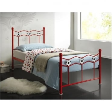 Chiswick Red 3ft Single Children's Metal Bed