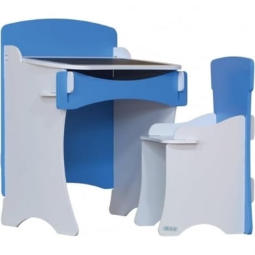 Traditional Desk & Chair Blue KDB