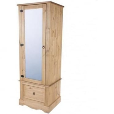 Corona Armoire Wardrobe with Mirrored Door CR525