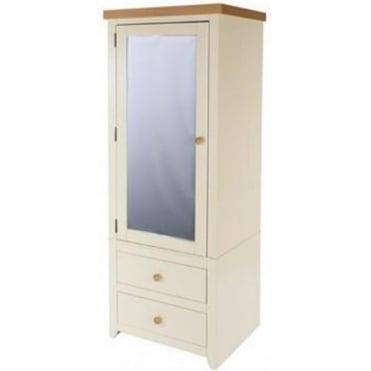 Jamestown 1 Mirrored Door 2 Drawer Wardrobe JA395