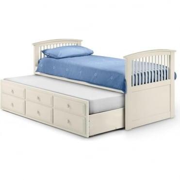 3ft Hornblower Stone White Cabin Bed