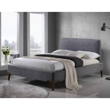 Durban 5ft King Size Grey Fabric Bed