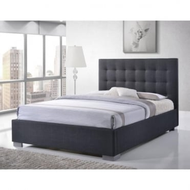 Nevada 5ft King Size Grey Fabric Bed