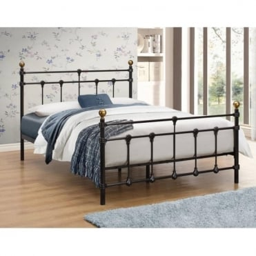 ATLAB4BLK Atlas 4ft Small Double Black Metal Bed