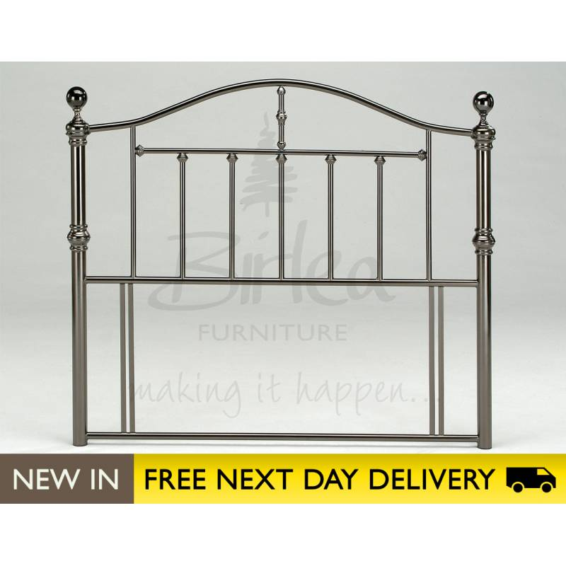 victoria 5ft king size nickel metal headboard buy birlea victoria king size head board uk. Black Bedroom Furniture Sets. Home Design Ideas