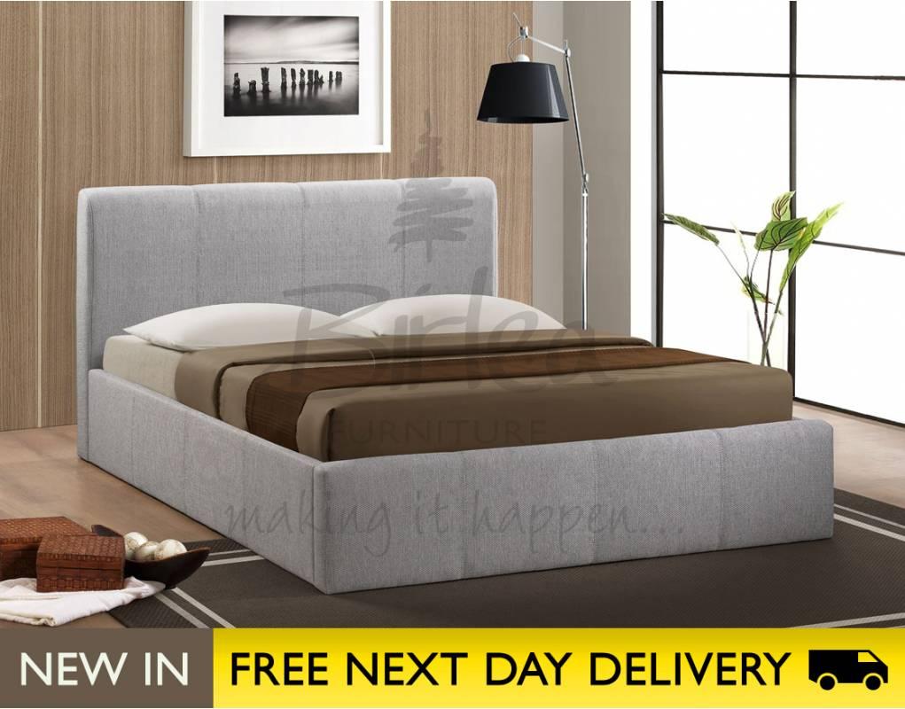 birlea brooklyn ottoman 5ft grey fabric bed cheapest. Black Bedroom Furniture Sets. Home Design Ideas