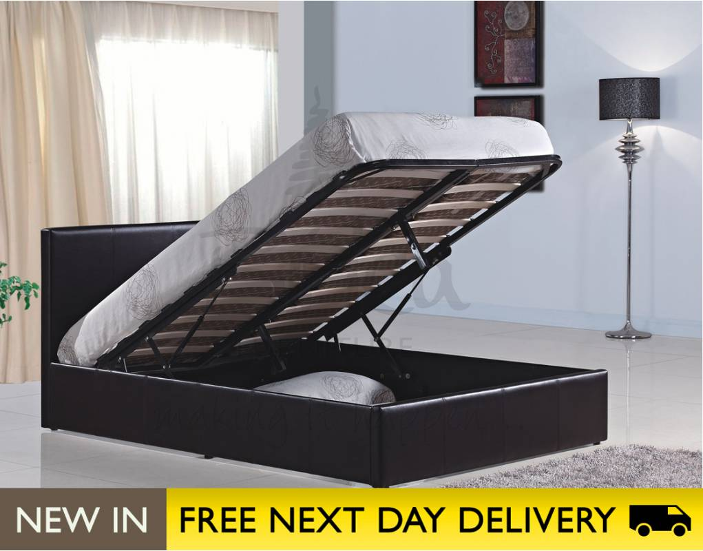 Time living houston faux leather 4 drawer bedstead bed for Best time for mattress sales