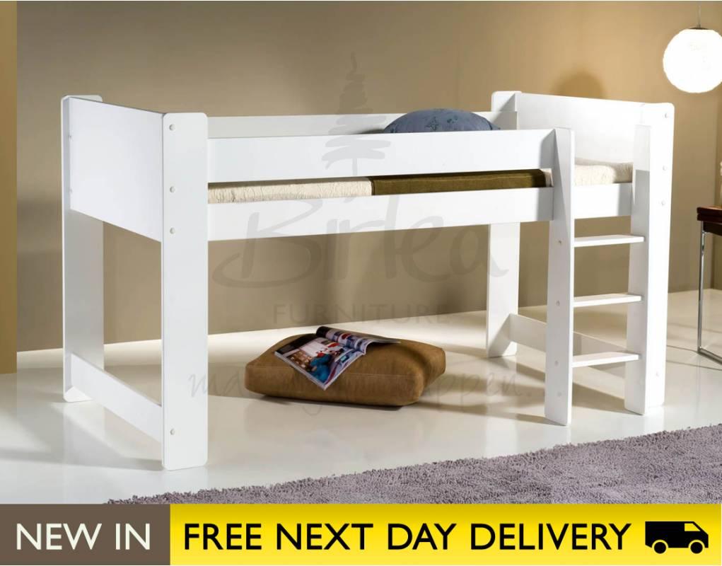 cube white midi sleeper 3ft cubmwht sale birlea cube. Black Bedroom Furniture Sets. Home Design Ideas