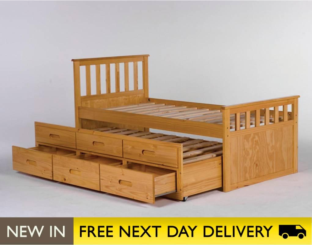 lpd furniture sleepover pine wooden storage bed sale. Black Bedroom Furniture Sets. Home Design Ideas