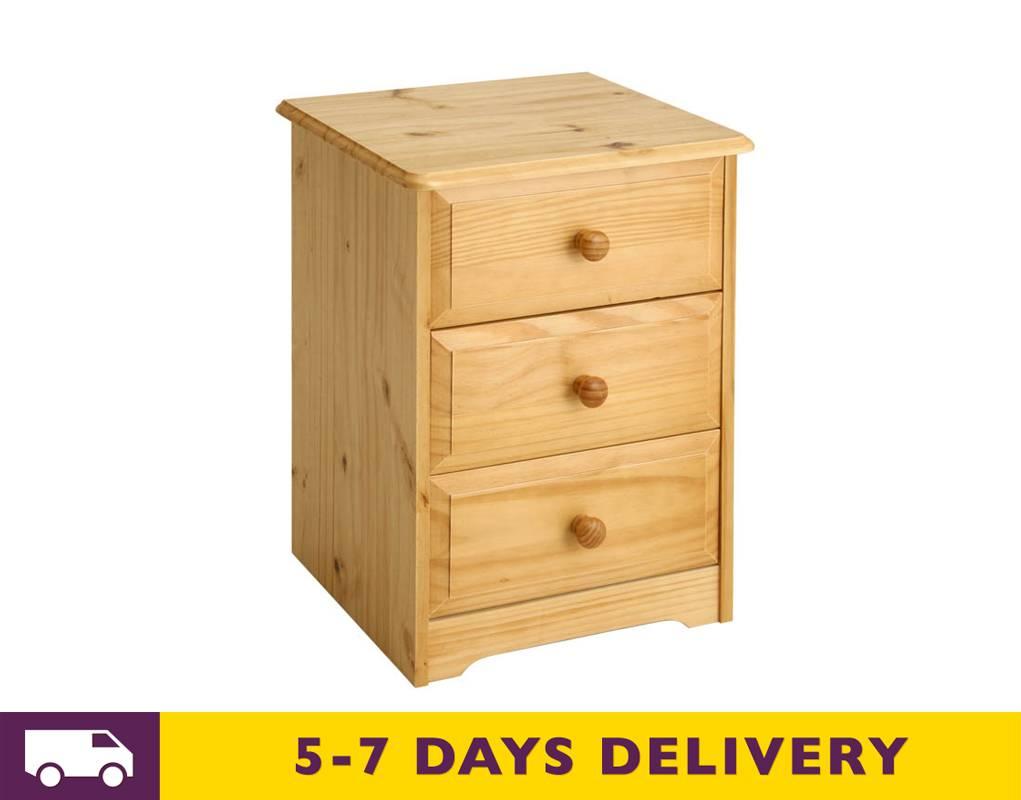 Balmoral 3 Drawer Bedside Cabinet BM510