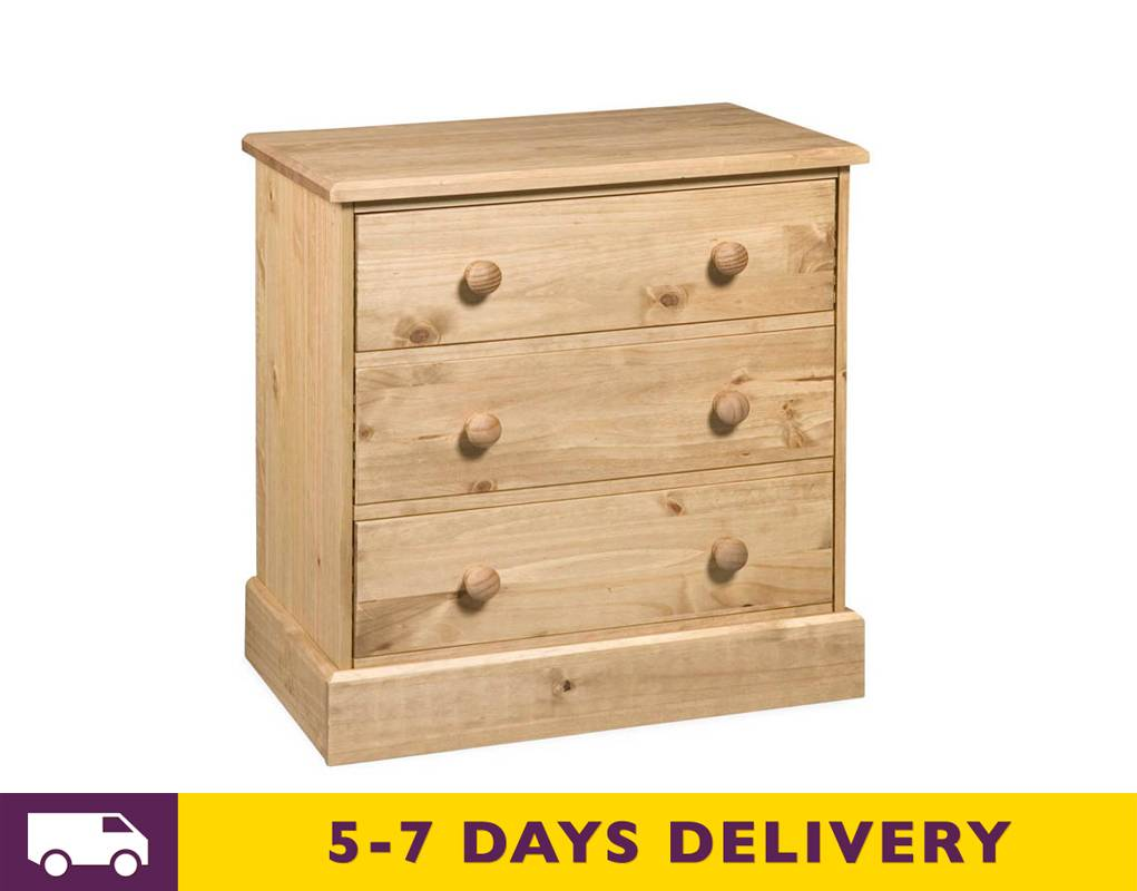 Core Products Ltd Cotswold 3 Drawer Chest Ct313 Buy Ct313 Cotswold Pine Three Drawer Chest Uk