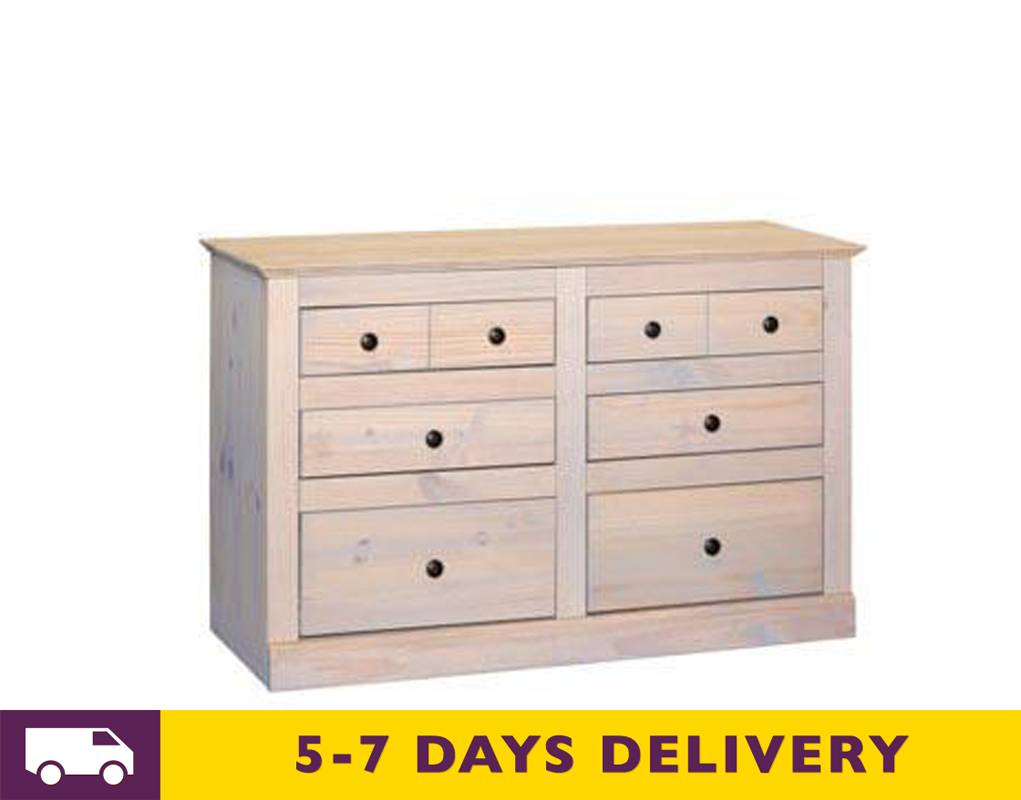 Cheap Pm533 Pembroke 3 3 Six Drawer Wide Pine Wooden Chest Of Drawers