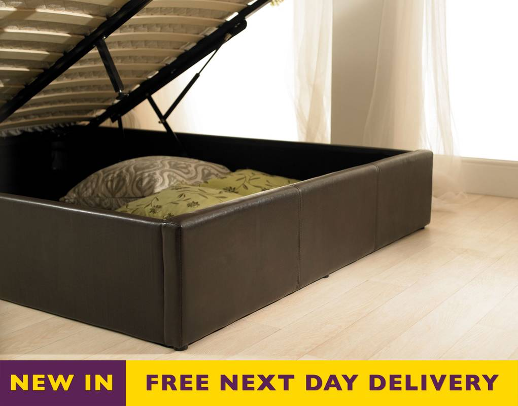 Faux Leather King Size Bed with Storage 1021 x 800