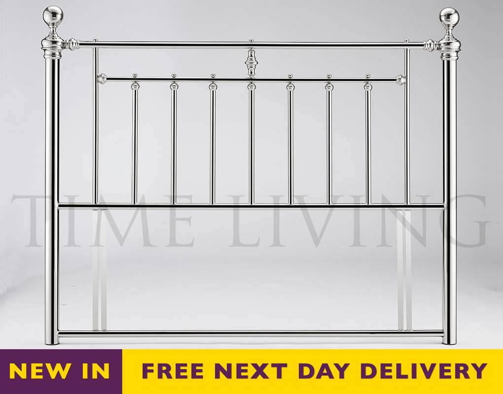 Cheapest alexander 4ft6 double chrome plated metal for Double headboards uk