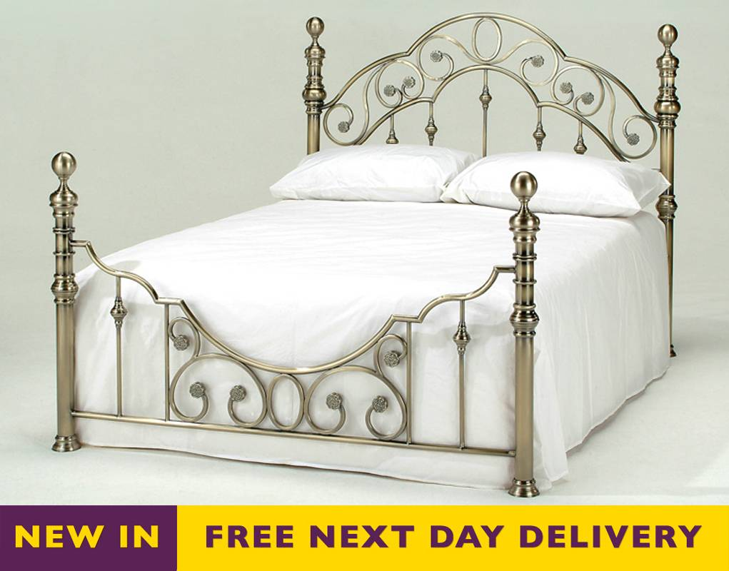 Cheapest Florence 5ft King Size Luxury Antique Brass Bed