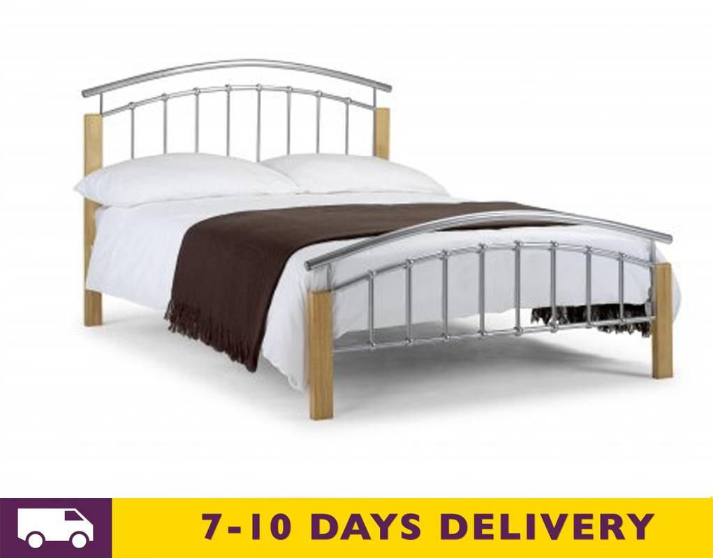 Wood Metal Bed : ... › All Beds › Julian Bowen Aztec 5ft King Size Metal & Wood Bed