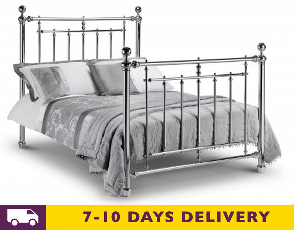 julian bowen empress chrome 5ft king size bed. Black Bedroom Furniture Sets. Home Design Ideas