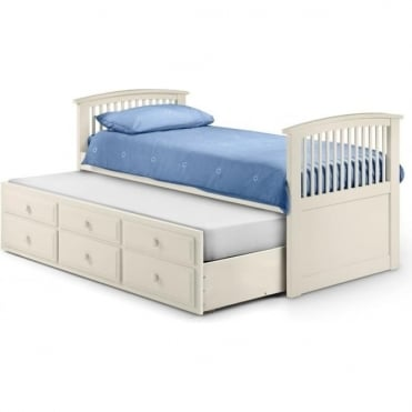 3ft Hornblower Stone White Cabin Bed
