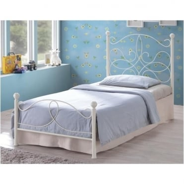 3ft Single Bed Ivory Metal - Melissa
