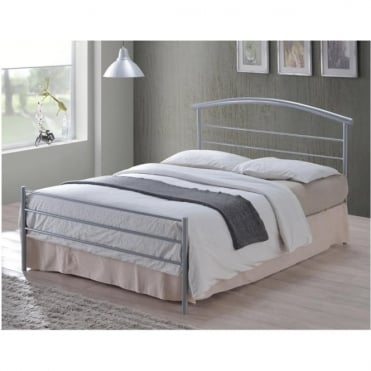 3ft Single Bed Silver Metal - Brennington
