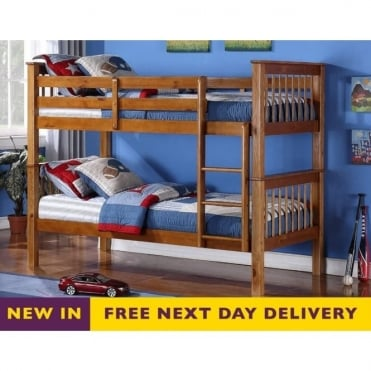 3ft Single Devon Pine Wooden Bunk Bed