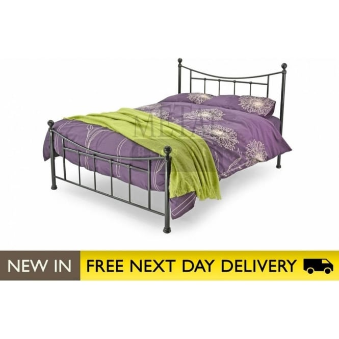 Metal Beds Ltd 4ft Small Double Bed Black Metal - Bristol