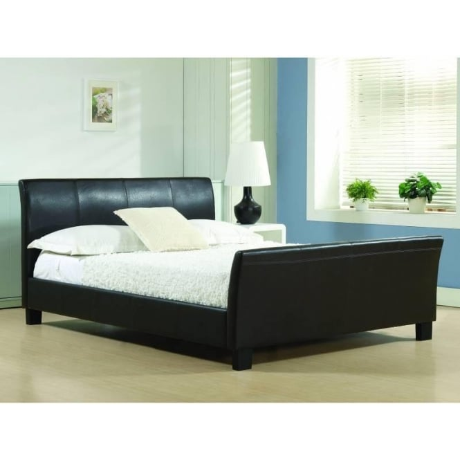 Time Living 4ft6 Double Bed Brown Faux leather - Winchester
