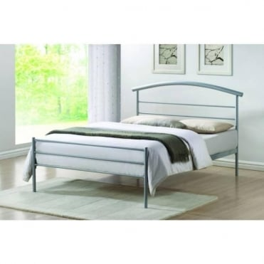 4ft6 Double Bed Silver Metal - Brennington