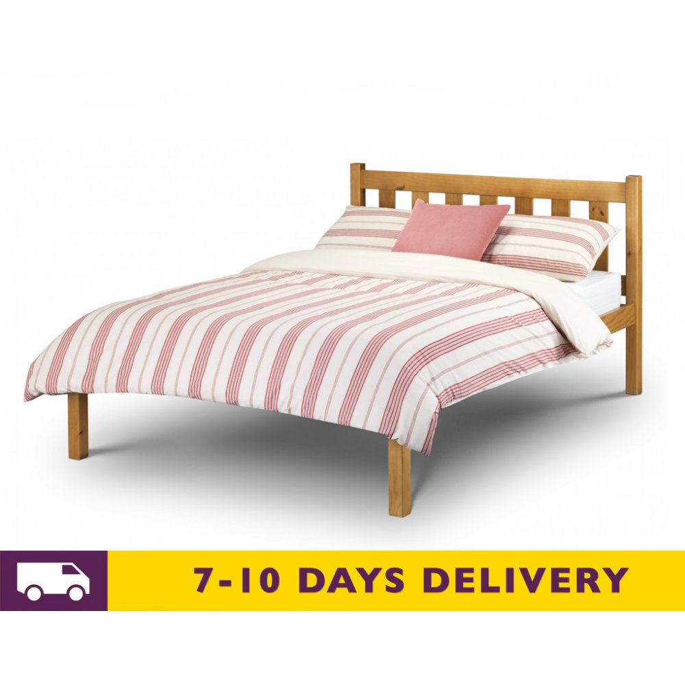 julian bowen 4ft6 poppy solid pine double bed trundle bed. Black Bedroom Furniture Sets. Home Design Ideas