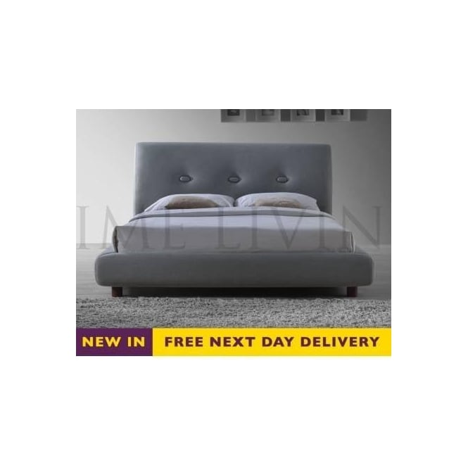 Time Living 5ft King Size Sache Grey Fabric Bed