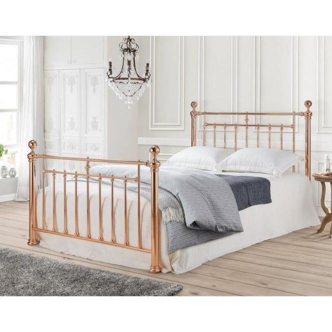 alexander rose gold 4ft6 double bed bedsos co uk 11703 | alexander rose gold 4ft6 double bed p4160 14556 medium