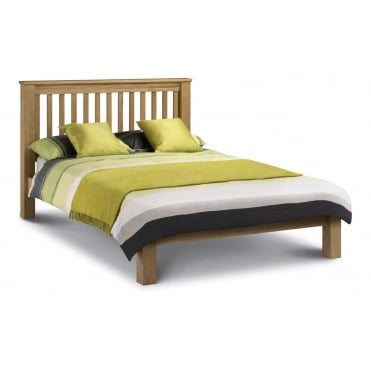 Amsterdam Oak Bed 135cm - Low Foot End Bed