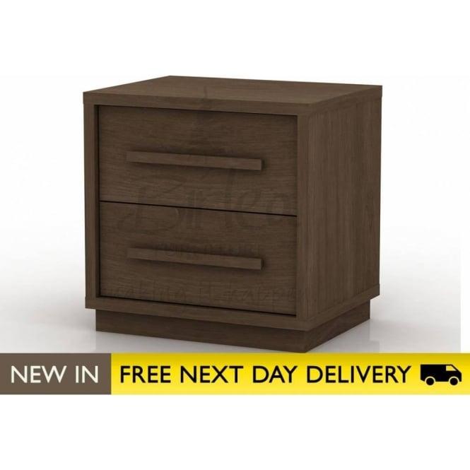 4b4131cecaf8 Atlanta walnut 2 drawer bedside cabinet ATL2BWAL